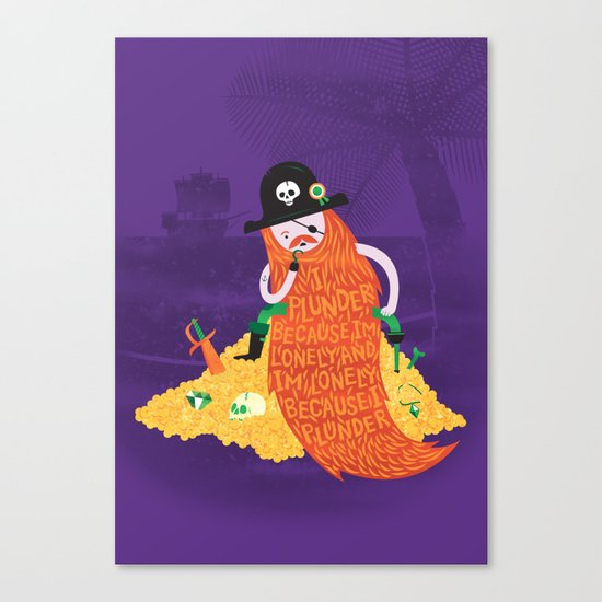 Piratical cycle Canvas Print