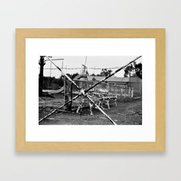 Spider Fence Framed Art Print