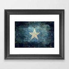 Flag of Somalia - Super Grunge version Framed Art Print