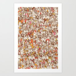 Victorian Crowd Art Print