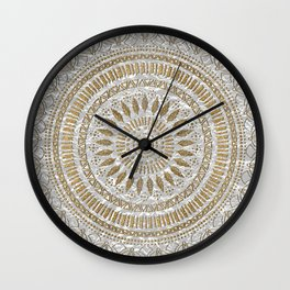 Elegant hand drawn tribal mandala design Wall Clock