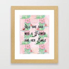 Surfer girl quotes Framed Art Print