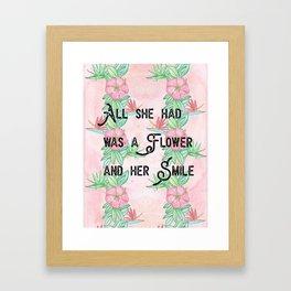 Surfer girl quotes Framed Art Print