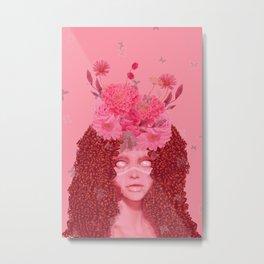 Pink Mystic  Flower Fairy Metal Print