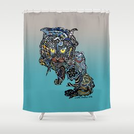 Dragon Cat (Color) Shower Curtain