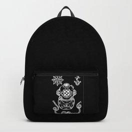 Deep Sea Diver Helmet Illustration Invert Backpack