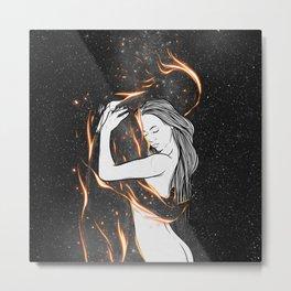 I'm burning into you. Metal Print