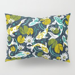 Koi Pond - Green Pillow Sham