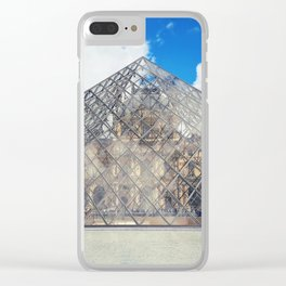 glass pyramid Clear iPhone Case