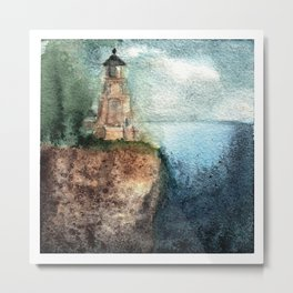 Recollection: Split Rock Lighthouse Metal Print