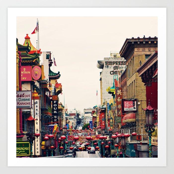 San Francisco China Town Art Print