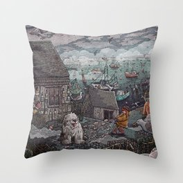 Home for the Harbor Throw Pillow