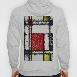 Mondrian with a twist Hoody