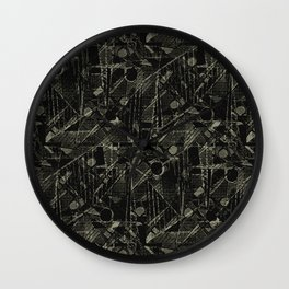 Abstract Collage Patchwork Pattern Wall Clock