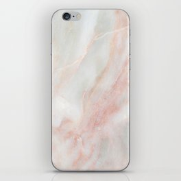 Softest blush pink marble iPhone Skin