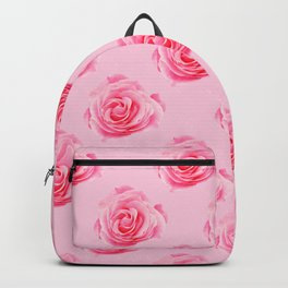 Pink Rose Swirly Petals Backpack