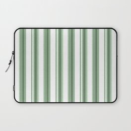 Green, white striped pattern. Laptop Sleeve