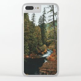 McKenzie River Trail - Blue Pool Clear iPhone Case