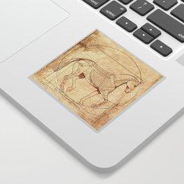 Da Vinci Horse In Piaffe Sticker
