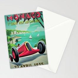 Vintage Monaco 7th Grand Prix Automobile Race 22 April 1935 Advertisement Poster Stationery Cards