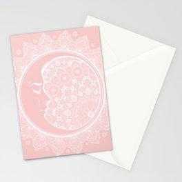 Mandala Moon Pink Stationery Cards