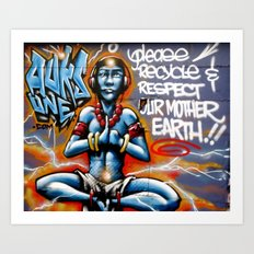 Mother Earth Recycles Art Print