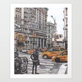 New York I Love You Art Print