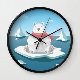 Polar breakfast Wall Clock