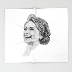 Hillary Clinton Throw Blanket