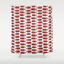 lying pencils Shower Curtain