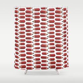 lying pencils Shower Curtain