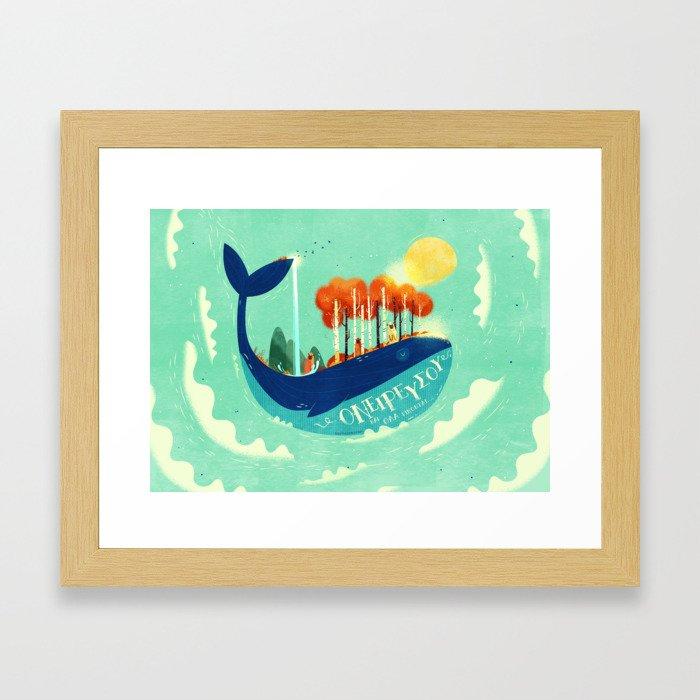 :::Tall Tree Whale::: Framed Art Print