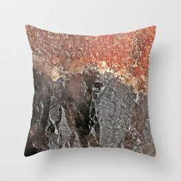 Red Capped Super Seven Throw Pillow