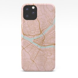 Pittsburgh map, Pennsylvania iPhone Case