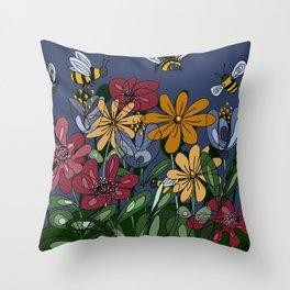 Beescape Throw Pillow