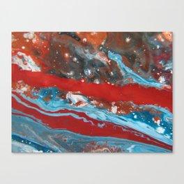 RIVER RUNS SLOW | Acrylic abstract art by Natalie Burnett Art Canvas Print