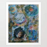 60s Art Prints featuring 60s by Freebird Artistry