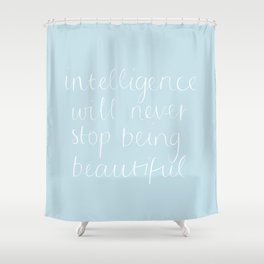 Intelligence Shower Curtain