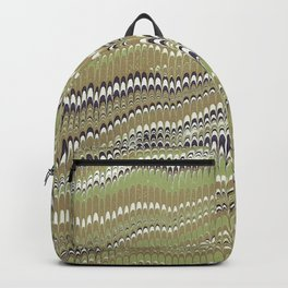 Electrified Ripples Olive Green Backpack