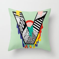 V for …. Throw Pillow
