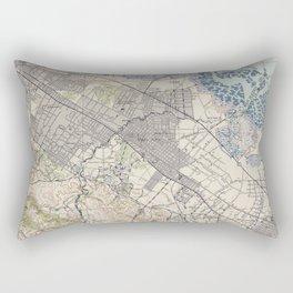 Old Map of Palo Alto & Silicon Valley CA (1943) Rectangular Pillow