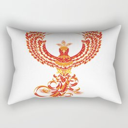 Mythical Phoenix Bird Rectangular Pillow