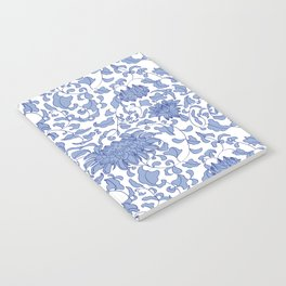 Chinoiserie Vines in Delft Blue + White Notebook