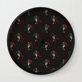 Mexican Folk Art Wall Clock