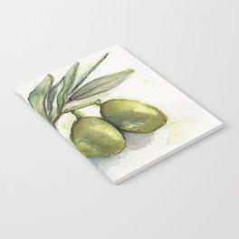 Olive Branch | Green Olives | Watercolor Illustration Notebook