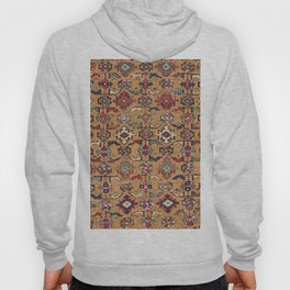 Mustard Khyrdagyd // 19th Century Colorful Dark Red Purple Southwestern Cowboy Ornate Accent Pattern Hoody