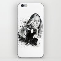 cara iPhone & iPod Skins featuring Cara by NZL Illustrations