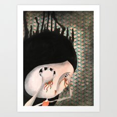 take your eyes out so you can see better Art Print