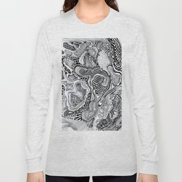 Topographic abstract Long Sleeve T-shirt