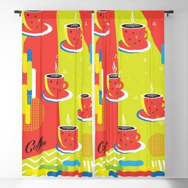 Abstract Coffee Cups pattern pop art Blackout Curtain